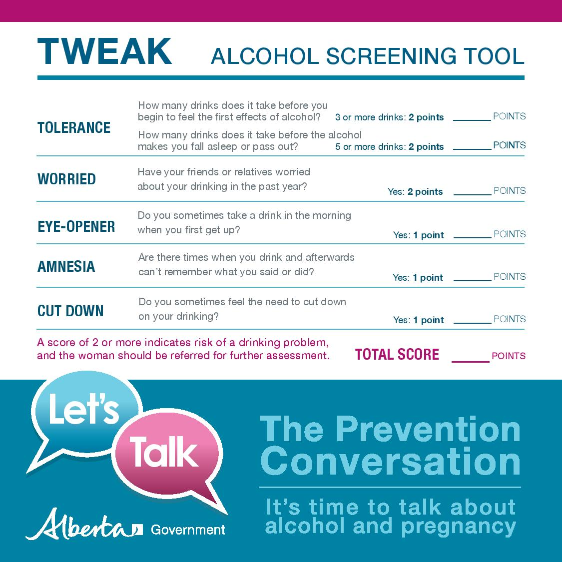 Alcohol Screening Instruments – The FASD Prevention ...