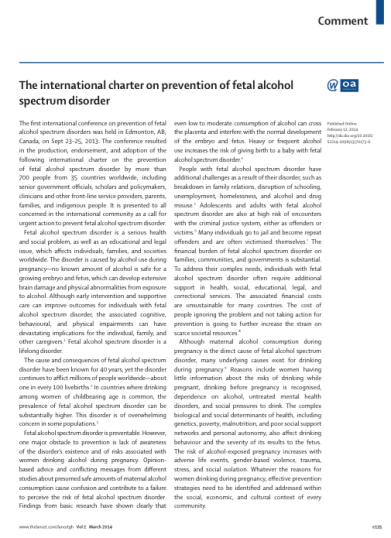 preventing fetal alcohol spectrum disorders in new zealand Fetal alcohol syndrome (fas) is the more severe end of a continuum of birth defects known as fetal alcohol spectrum disorders (fasds) fetal alcohol effects (faes), otherwise known as alcohol-related birth defects (arbds), may represent the milder end of the spectrum other terms for conditions.